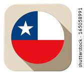 vector   chile flag button icon ... | Shutterstock .eps vector #165058991