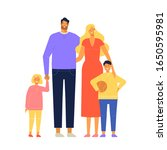father  mother  son and... | Shutterstock .eps vector #1650595981