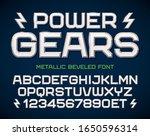 futuristic geometric font ... | Shutterstock .eps vector #1650596314