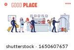 hotel service concept. website... | Shutterstock .eps vector #1650607657