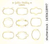 vector set frames and vignette...   Shutterstock .eps vector #1650618997