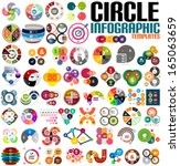 huge modern circle infographic... | Shutterstock .eps vector #165063659