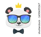 cool panda flat vector... | Shutterstock .eps vector #1650655267