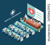 medical conference hall... | Shutterstock .eps vector #1650661951