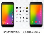 screen interface and icons in... | Shutterstock .eps vector #1650672517
