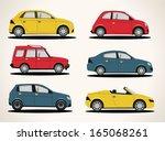 vector retro car icon set | Shutterstock .eps vector #165068261