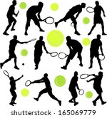 tennis player collection  ... | Shutterstock .eps vector #165069779
