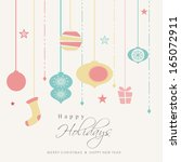 happy holidays concept... | Shutterstock .eps vector #165072911