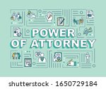 power of attorney word concepts ...