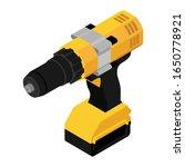 isometric cordless drill ... | Shutterstock .eps vector #1650778921