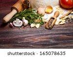 ingredients for homemade pasta... | Shutterstock . vector #165078635