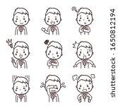 illustration set of businessman ... | Shutterstock .eps vector #1650812194