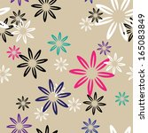 seamless pattern color flowers | Shutterstock . vector #165083849