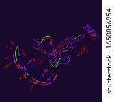 musician plays the guitar on a... | Shutterstock .eps vector #1650856954