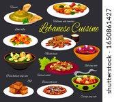 lebanese vegetable soups with...   Shutterstock .eps vector #1650861427