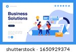 web page design with business... | Shutterstock .eps vector #1650929374