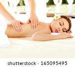 massage. close up of a...   Shutterstock . vector #165095495