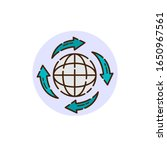 global connection icon for... | Shutterstock .eps vector #1650967561