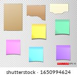 a set of paper stickers in... | Shutterstock .eps vector #1650994624