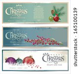 merry christmas retro background | Shutterstock .eps vector #165100139