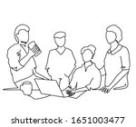 group of workers discussing at...   Shutterstock .eps vector #1651003477