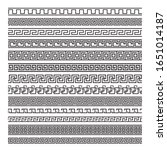 ancient greek key borders or... | Shutterstock .eps vector #1651014187