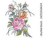 coloring picture with floral... | Shutterstock .eps vector #1651016614