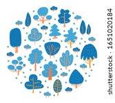 speing or winter trees.... | Shutterstock .eps vector #1651020184