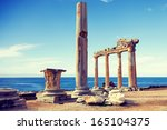 the ruins of an ancient temple... | Shutterstock . vector #165104375
