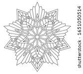 unusual black and white mandala ... | Shutterstock .eps vector #1651050514