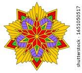 unusual soviet style mandala... | Shutterstock .eps vector #1651050517