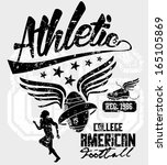 college sports american... | Shutterstock .eps vector #165105869