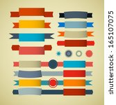 retro ribbons  labels  tags set | Shutterstock .eps vector #165107075