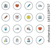 antibiotic icons colored line... | Shutterstock . vector #1651109737