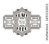 vintage beer frame and label....   Shutterstock .eps vector #1651112611