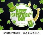 happy st patrick's day banner...   Shutterstock .eps vector #1651125214