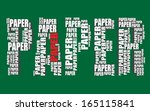 paper typography 3d text word... | Shutterstock .eps vector #165115841