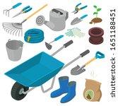 Gardening Tools Icons Set....