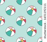 colorful beach balls seamless... | Shutterstock .eps vector #1651192111