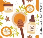 vector hand drawn seamless... | Shutterstock .eps vector #1651197451