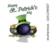happy st. patricks day. bowling ... | Shutterstock .eps vector #1651198507
