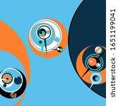 retro futuristic poster.... | Shutterstock .eps vector #1651199041