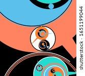 retro futuristic poster.... | Shutterstock .eps vector #1651199044