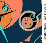 retro futuristic poster.... | Shutterstock .eps vector #1651199071