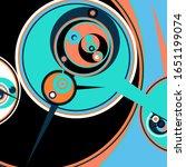 retro futuristic poster.... | Shutterstock .eps vector #1651199074