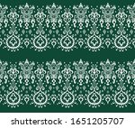 ikat geometric folklore... | Shutterstock .eps vector #1651205707