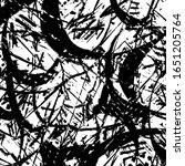 grunge black and white. dark... | Shutterstock .eps vector #1651205764