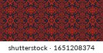 ikat geometric folklore... | Shutterstock .eps vector #1651208374