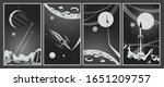 retro movie space posters... | Shutterstock .eps vector #1651209757