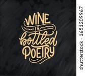wine lettering composition in... | Shutterstock .eps vector #1651209967